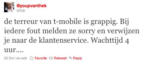 Tweet Youp van 't Hek T-mobile