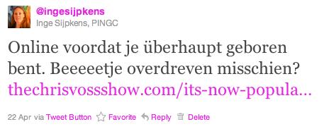 Tweet Inge Sijpkens baby online