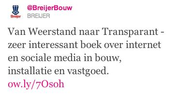Tweet Breijer Bouw boek social media bouw