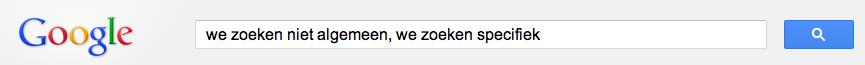 we zoeken online op specifieke termen