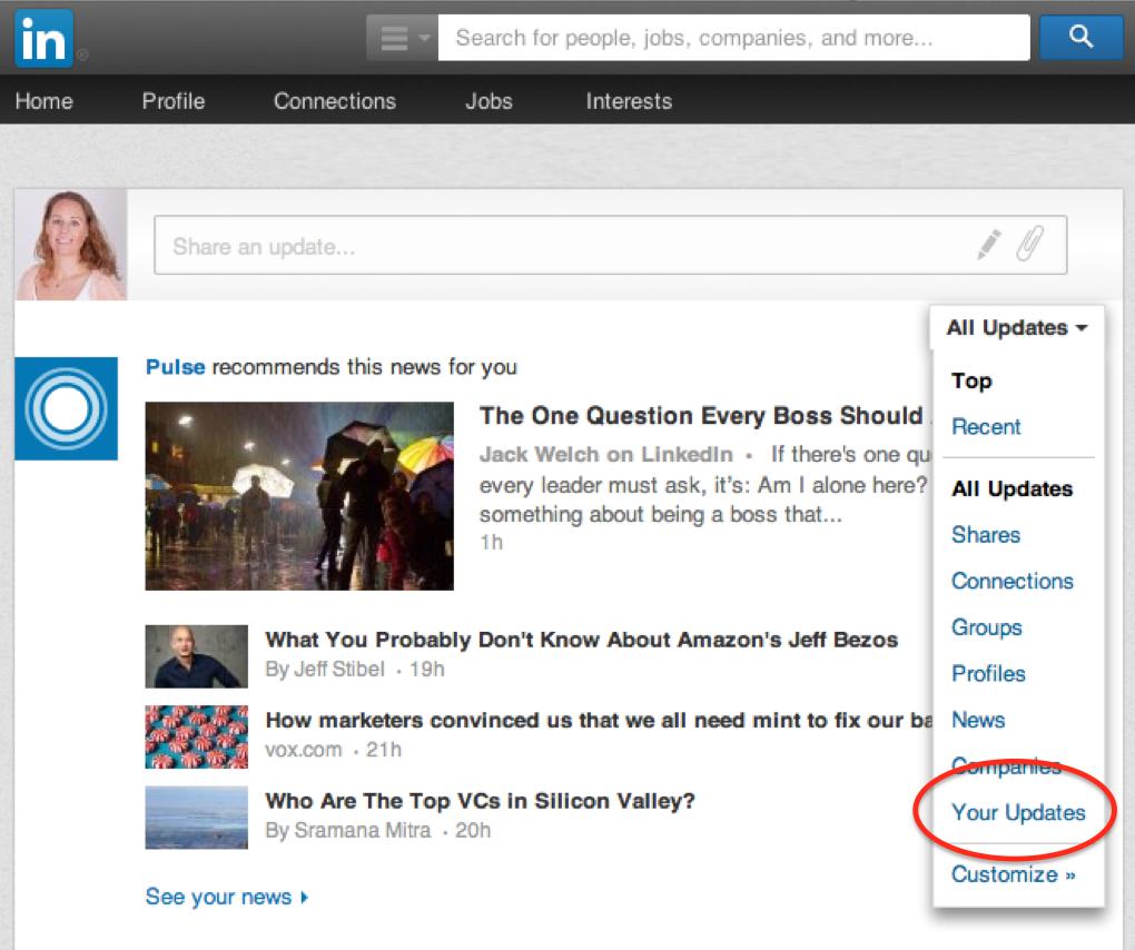 Je eigen updates terugvinden op LinkedIn