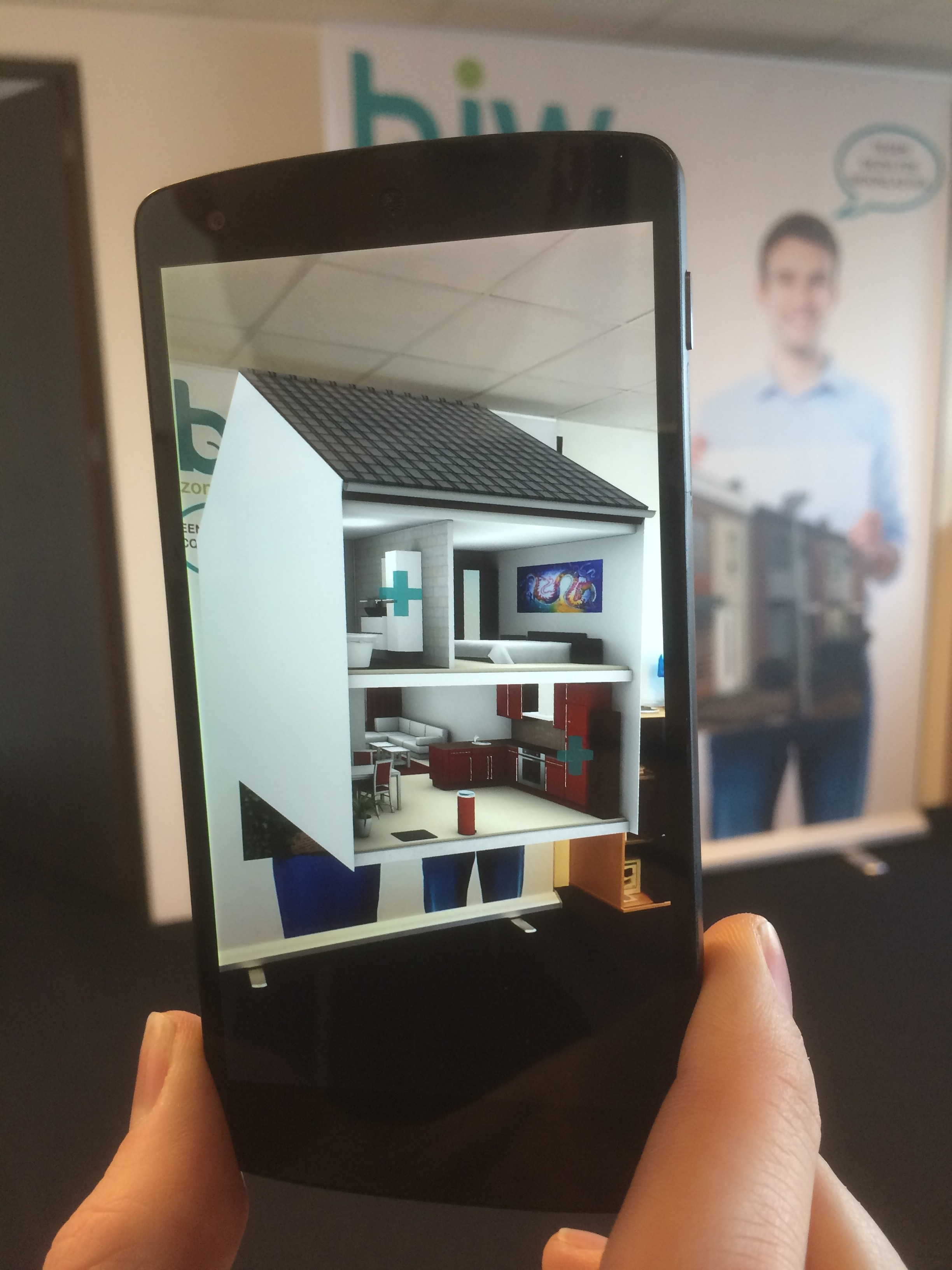 Augemented reality in de bouw (Recreate en BJW Wonen)
