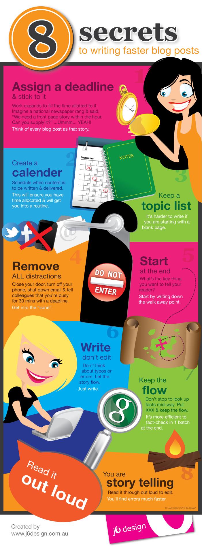 Infographic | 8 tips om sneller en makkelijker blogs te schrijven
